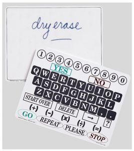 Dry Erase Communication Board