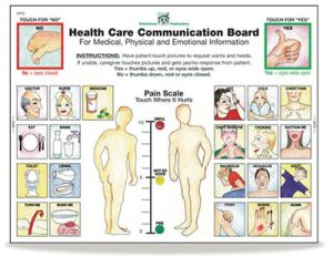 Health Care Communication Board Tablets - Front