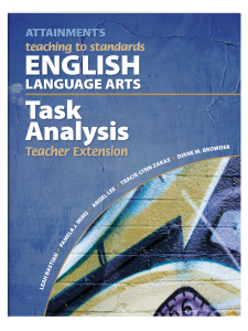 Teaching to Standards: ELA Extension Book