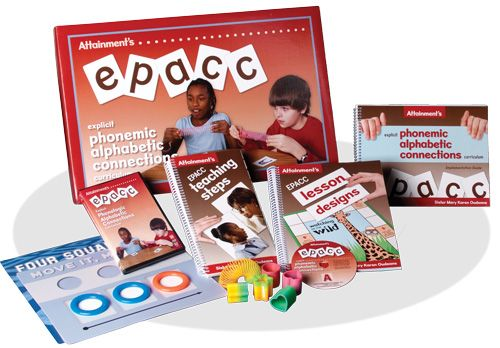 EPACC box and a selection of product components