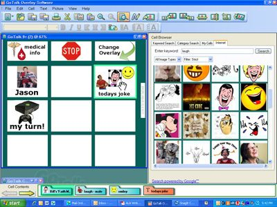 GoTalk Overlay Software interface