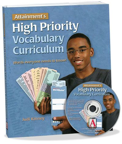 High Priority Vocabulary Curriculum with PDF CD