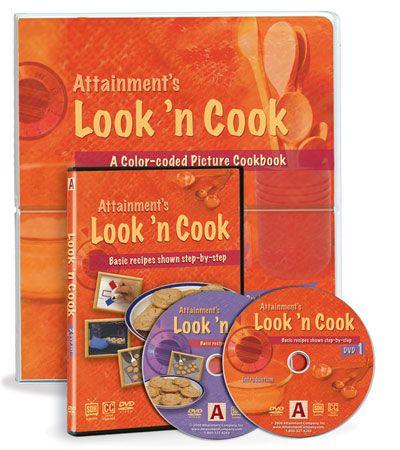 Look 'n Cook Cookbook and DVD Set