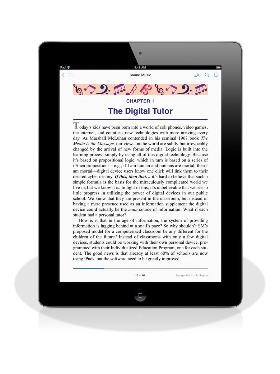 Sound Music eBook page